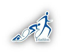 Triathlon Sport Sticker Decal Laptop Car Cornhole Wall Pick a size