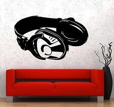 Wall Vinyl Music Headphones Head Phones Guaranteed Quality Decal (z3532)
