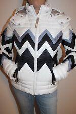 Bogner Damen Ski Jacke Nara D mit Swarovski Steinen Weiß Blau alle Größen Neu