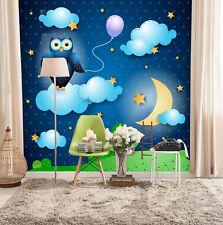 3D Stars Sky Cute Eagle 3692 Wallpaper Decal Decor Home Kids Nursery Mural Home