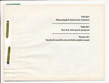 Zündapp 518 Ersatzteilliste Tafel 22/1 Hinterradgabel Moped Deutschland Zundapp