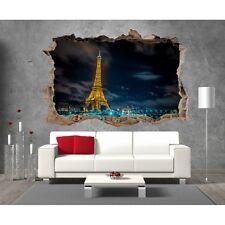 Stickers 3D Trompe l'oeil Paris Tour Eiffel réf 23289 23289 Art déco Stickers