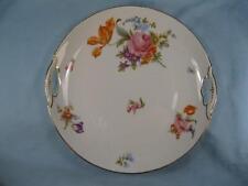 KPM Vintage Whiteware Porcelain Decorative Cookie Cake Dessert Plate Flowers (O)
