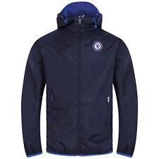 Chelsea FC Official Football Gift Mens Shower Jacket Windbreaker