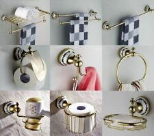 Gold Color Brass Bath Accessories Towel Ring Toilet Bathroom Hardware Set Aj018