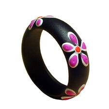 Ring Blumen Goa Hippie Holz Natur Design Größen und Farb Auswahl! AR016
