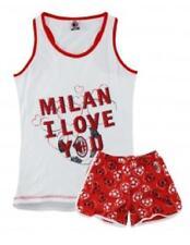 Pigiama smanicato Milan donna maglia e pantaloncini i love you  *02839