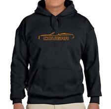 1971-73 Mercury Cougar Convertible Black Hoodie Sweatshirt FREE SHIP