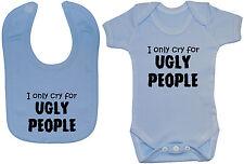 Ugly People Bodysuit/Romper/T-Shirt & Feeding Bib Newborn-24m Boy Girl Acce Gift