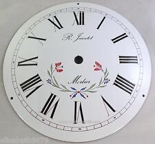 cadran bombé 25 cm EMAILLE fleuri horloge  comtoise