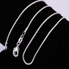 ASAMO Damen Herren Halskette Schlangenkette 925 Sterling Silber plattiert Kette