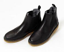 Zecchino d`Oro Chelsea Boots Budapester Lammfell/Leder schwarz Gr.42 NEU%