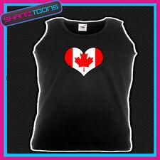 Canada Bandiera Canadese Amore Cuore Canotta stampata unisex