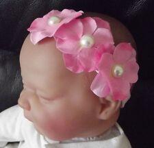 Bébé fille / enfant 2 pouces triple Hydrangea bandeau plusieurs couleurs