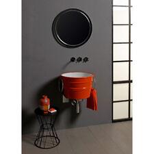 Rundes Aufsatzbecken/wandhängend Waschbecken Bacile Orange  Keramik 46,5xH30cm