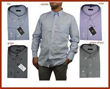 camicia da uomo manica lunga di cotone regular fit a righe elegante classica