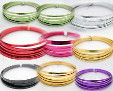 5mm X 1mm X 5m ~  Aluminium Wire, (FLAT) Craft, Florist, Jewellery Making. Wire