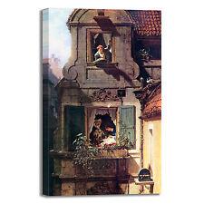 Spitzweg lettera d'amore intercettata quadro stampa tela telaio arredo casa