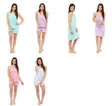 Ensemble pyjama avec Shorty court Chemise de nuit femmes divers modèles 36-50