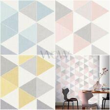 Arthouse SCANDI TRIANGLE Papier peint Géométrique - Pastel Couleurs Rose Jaune