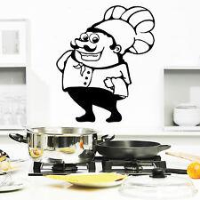 10797 Wandtattoo Loft Aufkleber Koch Chefkoch Kühenchef Restaurant Pizza Essen