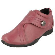 Mujer Dr Cringles Rosa Oscuro Sintético auta-adhesivo Zapato de correas