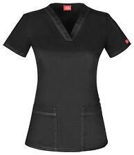 Dickies Scrub Short Sleeve Top DK800 BLKZ Black Free Shipping
