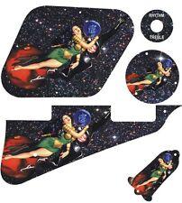 Kit Pickguard Pick Guard Graphical LP Les Paul Guitar Pin Up Girl 4 WH