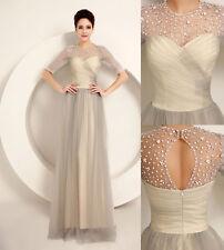 Abito lungo elegante donna damigella vestito cerimonia party festa ballo sposa