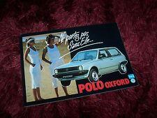 Prospectus / Brochure VOLKSWAGEN Polo Oxford 1984 / 1985 //