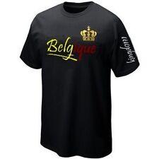 T-Shirt BELGIQUE Wallonie BELGIUM Drapeau ultras- Maillot