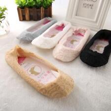 The fifth generation of non-slip silicone slip invisible lace socks ZH