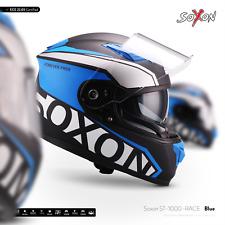 SOXON ST-1000 RACE BLUE / CASQUE DE MOTO INTÉGRAL SCOOTER JET ECE XS-XXL