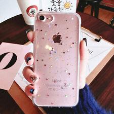Luxury Bling Glitter Souple Antichoc Slicones Coque Arrière pour iPhone X 7 8 6S
