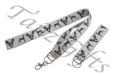Italian Greyhound Breed of Dog Matching Lanyard | Keyring Key Ring | Bookmark