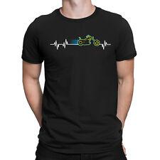 Motorbike Heart Beat Pulse Mens Funny Biker T-Shirt Motorcycle Chopper Bike Gift