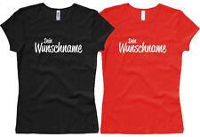 Damen Girlie T-Shirt mit Name nach Wunsch Gr. XS bis L Woman T-Shirt