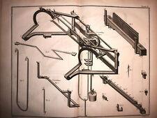 TESSITURA,macchinari 11 tavole Denis Diderot e Jean le Rond d'Alembert XVIII sec