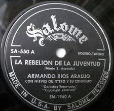 ARMANDO RIOS ARAUJO La Rebelion De La Juventud / Mi Confesion LATIN 78 Salome