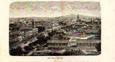 Stampa antica Veduta di BOMBAY MUMBAI  India 1889 Old Print