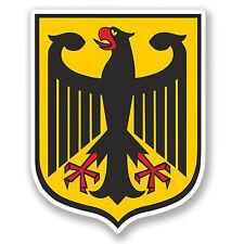 2 x Armoiries de voiture autocollant allemand eagle Vélo Casque Portable iPad decal # 4147