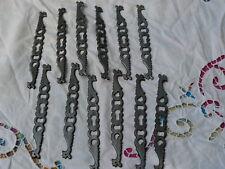 Lot 12 entrées de serrure coq de style, alliage métaux,meuble, tiroirs