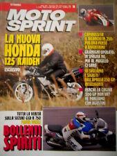 Motosprint 19 1992 Nuova Honda 125 Raiden. Prova Suzuki GSX R 750. Aprilia 250
