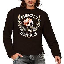 * Biker Gothic Punk Skull Metal Totenkopf  T-Shirt *4305 LS br
