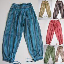 Pantaloni PESCATORE Hippy Goa INDIA PSY TRANCE a righe BAGGY