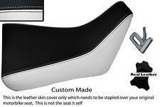Blanco Y Negro Custom Fits Yamaha Fzr 600 89-99 Frontal De Cuero Funda De Asiento