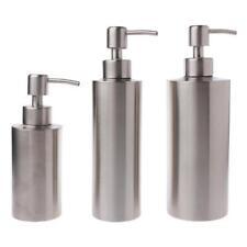 Stainless Steel Soap Pump Bottle Dispenser Bathroom Shower Gel Lotion Bottle Hot