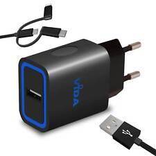 Rapide Chargeur Mural Secteur Universel Chargeur Adaptateur avec Micro USB Câble