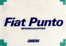FIAT PUNTO 1 Gen Betriebsanleitung 1993 Bedienungsanleitung Handbuch Bordbuch BA