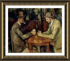 FRAMED Poster Card Players Paul Cezanne For Living Room Framed Wall Art
